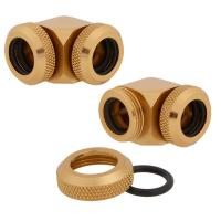 Corsair Hydro X Series XF Hardline 2-pack 90° Angled 14mm OD compression - Gold