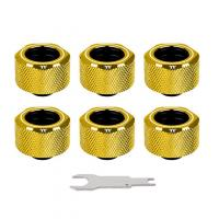 Thermaltake Pacific C-Pro G1/4 PETG 16mm OD Fitting Kit - Gold