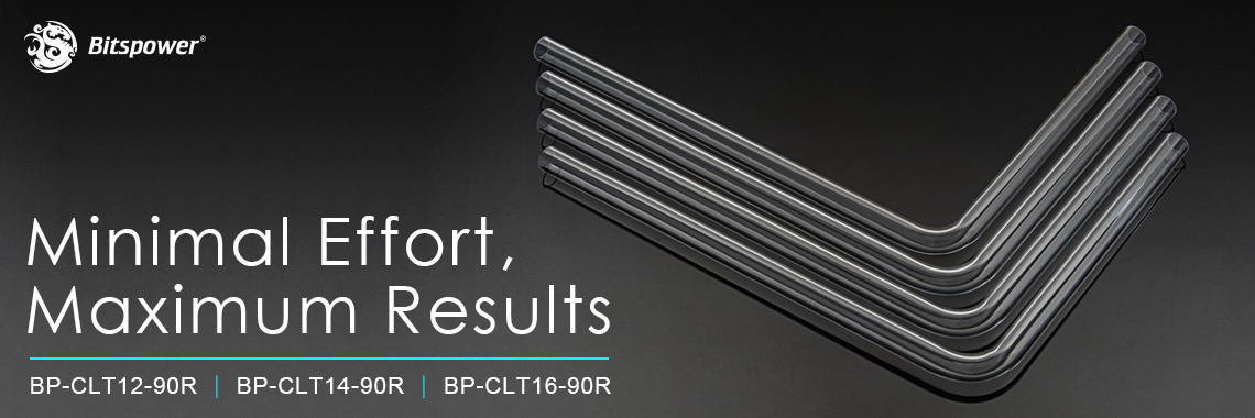 Bitspower Pre-bent 90-Degree acrylic Hard Tube