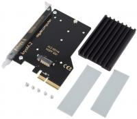 Aqua-Computer kryoM.2 PCIe 3.0 x4 adapter for M.2 NGFF PCIe SSD, M-Key with passive heatsink