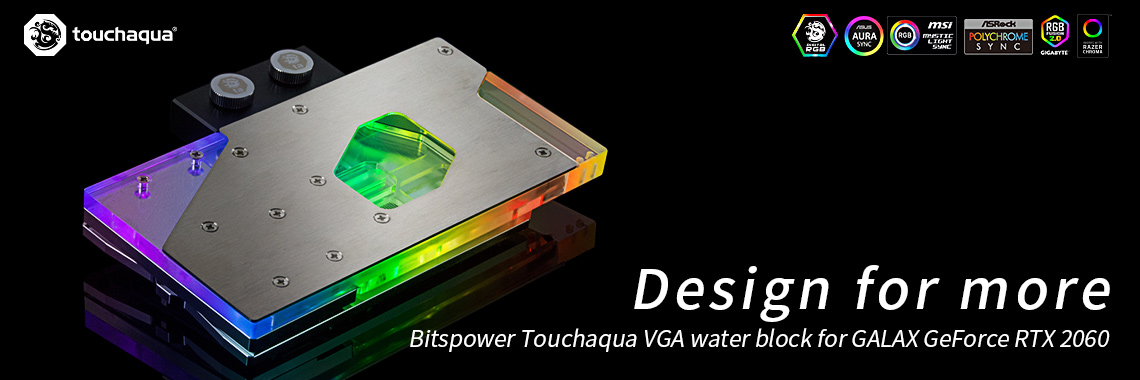 Водоблок Bitspower Touchaqua VGA water block for GALAX GeForce RTX 2060