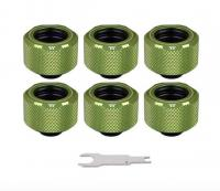 Thermaltake Pacific C-Pro G1/4 PETG 16mm OD Fitting Kit - Green