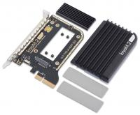 Aqua-Computer kryoM.2 evo PCIe 3.0 x4 adapter for M.2 NGFF PCIe SSD, M-Key with passive heatsink