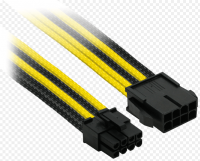 Удлинитель 8Pin PCI-E Power Extension Cable (300mm) Black-Yellow